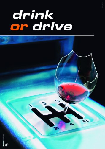 Manifesto 'drink or drive' A3